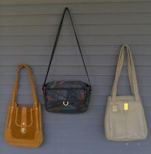 Lot 3 Purses Kathie Lee Zenith Patchwork Leather Satchel Shoulder Bag