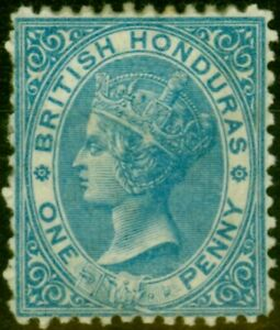 British Honduras 1872 1d Pale Blue SG5 V.F Very Lightly Mtd Mint