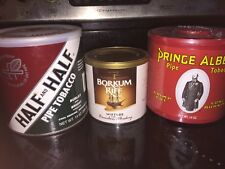 Borkum Prince albert pipe tobacco can mixed sealed lot