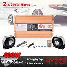 400W Car Warning Alarm Police Fire Siren Horn PA Speaker MIC System 8 Sound US