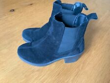 Office Black Suede  Ankle Boots Size Uk 6 Eu 39
