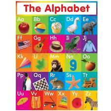 ABC Animal Picture Alphabet Educational Silk Poster Wall Sticker Decor 33x43cm