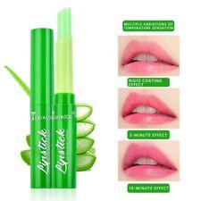 1Pcs Aloe Vera Lip Balm Matte Lipstick Color Changing Lipstick Long Lasting Lips