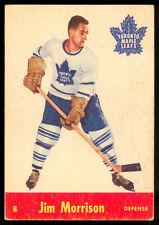 1955 56 PARKHURST HOCKEY #8 Jim Morrison EX Cond  Toronto Maple Leafs CARD