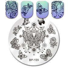 Butterfly Star Nail Art Stamping Plates Manicure Image Templates Decors BP-155