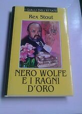 Rex Stout-Nero Wolfe e i ragni d'oro-I Gialli dell'Estate- Edizioni Paoline-1997