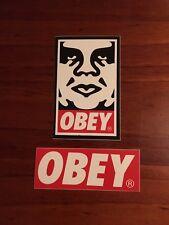 OBEY Sticker - (Lot of 2) Skateboard - Art - New!