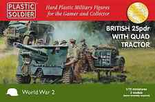 INGLESE 25PDR & Morris Quad Trattore - PLASTIC SOLDIER Company 1/72
