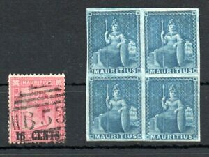 MAURITIUS , 1859 , 1883 , five nice CLASSIC STAMPS , MNH / USED