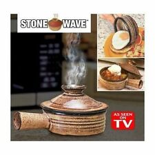 Portable Microwave Ceramic Wave Stone Cooker Stoneware Cooking Camping Outdoor
