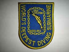 US Navy USS DOLPHIN AGSS-555 Submarine Patch