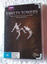 FAWLTY TOWER- THE COMPLETE COLLECTION  (DVD, 3-DISC) R-4, LIKE NEW, FREE POST
