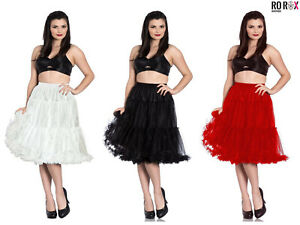 Hell Bunny Polly Long Tulle Petticoat Swing Flare Skirt 50's Rockabilly Vintage