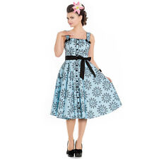 Hell Bunny Sailor Girl Blue Nautical 1950s Vintage Retro Rockabilly Pinup Dress