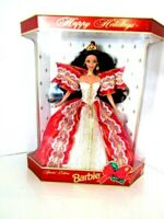 Rare Happy Holidays Barbie Special Edition Gold Backing 1997 -10 Anniversary