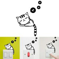 Cute Cat Switch Stickers Wall Stickers for kids Home Decor Living Room