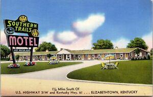 Postcard Southern Trails Motel in Elizabethtown, Kentucky~1250