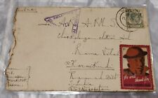 1940 Singapore Malaya Straits Settlement Censor Cover + 1c Patriotic Fund Label