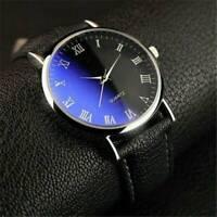 Men's Ultra Thin Slim Formal Causal Smart Leather Analog Quartz Wrist Watch Gift