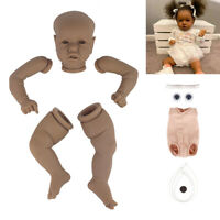 22'' Blank Reborn Doll Kits Vinyl Head & Limbs & Cloth Body for Newborn Dolls