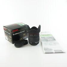 Für Nikon AF Sigma DC 18-200mm 1:3.5-6.3D Objektiv lens + hood und caps in OVP