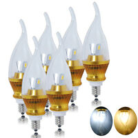 6x E12 6W SMD LED Candle Light Bulbs Candelabra Lamp Warm Cool White Chandelier
