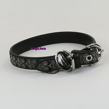 NWT Coach Mini Signature Fabric Leather Dog Pet Animal Collar FS4003 M Black