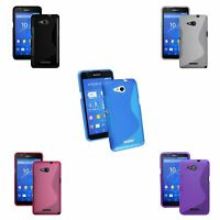 FOR SONY XPERIA E4G S-LINE SILICONE GEL IN VARIOUS COLOURS COVER CASE