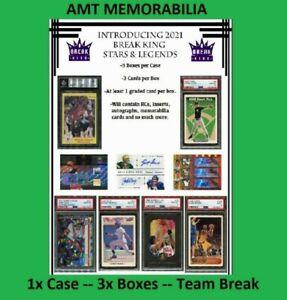 New England Patriots 2021 Break King Stars & Legends 1X CASE 3X BOX BREAK #6