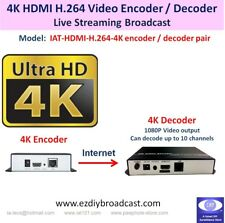 4K Ultra-HD HDMI H.264 Encoder & Decoder HTTP RTMP RTSP IP Network live stream