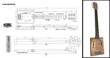 6-String Acoustic Cigar Box Guitar Full-Scale Plan