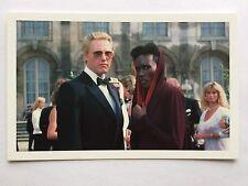CARTE POSTALE JAMES BOND CHRISTOPHER WALKEN GRACE JONES POSTCARD 007