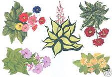 Flowers Assorted Garden Wall Decal Transfer Original Artwork Hand Painted