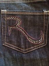 Rock & Republic Kasandra Vintage Vinyl Women's Jeans Rhinestones Size 2 New!