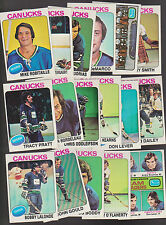1975 Topps Vancouver CANUCKS Team SET Lot of 17 NM+ LEVER BOUDRIAS