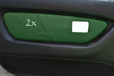 FITS  MG MGF MK1 95-99 2 x DOOR CARD COVERS LEATHER d green