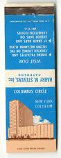 1960s New York Coliseum Columbus Circle Matchbook Cover Harry M Stevens Caterers