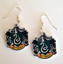 Harry Potter Inspired  House of Slytherin Emblem Earrings