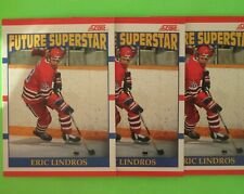 Lot of 3  ERIC LINDROS  1990  ROOKIE  CAN.  FUTURE SUPERSTAR  #440 Flyers