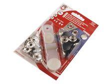 10 Druckknöpfe ! rostfrei !  15mm schwarz/silber Ringfeder mit Werkzeug
