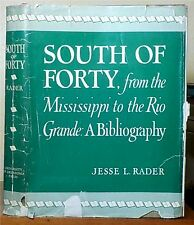 South of Forty from the Mississippi to Rio Grande: A Bibliography Jesse L. Rader