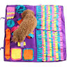 EE_ PET DOG SNUFFLE MAT NOSE TRAINING SNIFFING PAD TOY FEEDING CUSHION BLANKET S