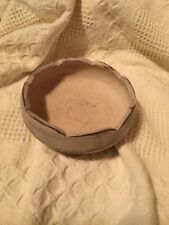 Primitive Distressed Creamed Color Wood Bowl Use for Fillers Soaps Folk Art