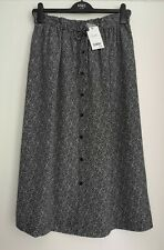 NEXT Monochrome Crepe Midi Skirt 12 & 14 TALL  RRP £40