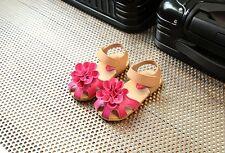 Mädchen Kinder Blumen Sandale Sommerschuhe Sandalen Klettverschluss Sandalette