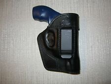 S&W J FRAME ,IWB,OWB,SOB, AMBIDEXTROUS formed leather revolver holster