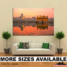 A Wall Art Canvas Picture Print - Golden Temple Amritsar Punjab India Sunset 3.2