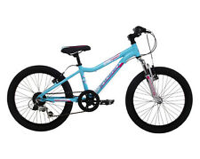 Indigo Shimmer, Girls Mountain Bike, Childrens Bicycle, 6 Speed, Blue, 20 inch