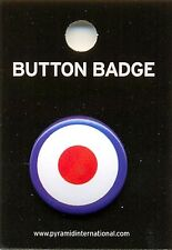 Target Symbol 25mm Button Badge Pin Carded