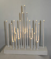 Christmas Battery White 20 LED STAR CANDLE ARCH / CANDLELIER / bridge  TIMER